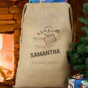 Personalised Hessian Christmas Sack - Special Delivery Christmas Sack
