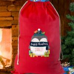Kids Christmas Sacks – Personalised Polar Penguin Christmas Sack