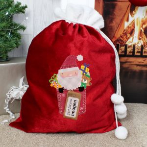 Personalised Christmas Sack - Just For You Luxury Christmas Eve Sack
