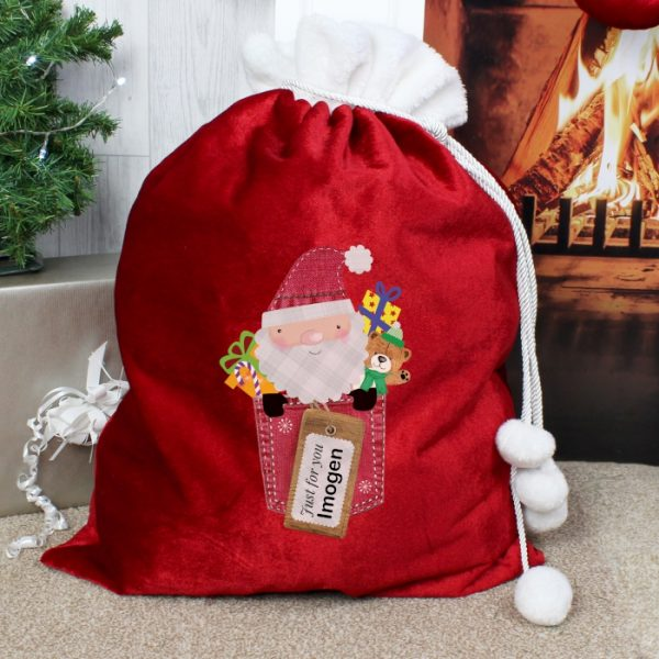 Personalised Christmas Sack – Just For You Luxury Christmas Eve Sack