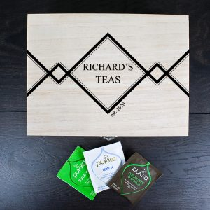 Gifts for Tea Drinkers - Personalised Tea Box for Gentlemen