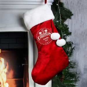 Christmas Stockings for the Family - Personalised Christmas Wishes Stocking