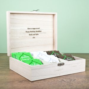 Gifts for Tea Lovers - Personally Engraved Wooden Tea Box