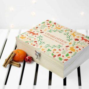 Personalised Christmas Gift - Festive Woodland Tea Box