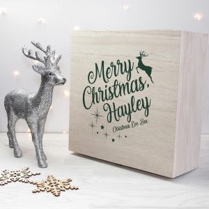 Personalised Wooden Christmas Eve Box to Fill with Surprises