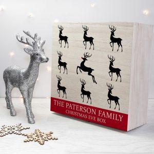 Personalised Reindeer Family Christmas Eve Box