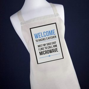 Personalised Microwave Apron - Pink or Blue