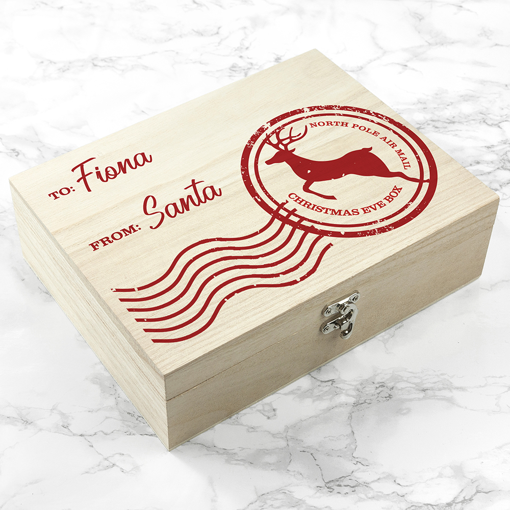 Kids Christmas Eve Box - Personalised Special Delivery Wooden Box