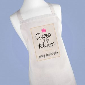 Personalised Queen of the Kitchen Apron - Printed With Any Name