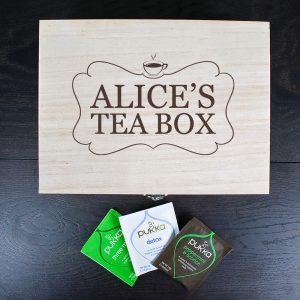 Personalised Tea Box - Charcoal