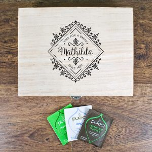 Gifts for Tea Lovers - A Beautifully Personalised Tea Box & Tea