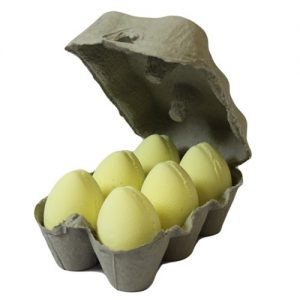 Set of 6 Childrens Bath Bombs - Banana Eggs