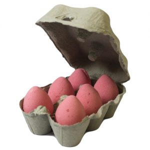 Set of 6 Childrens Bath Bombs - Cherry Eggs