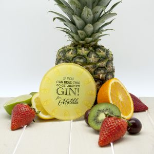 Personalised Fruity Glass Cocktail Coasters