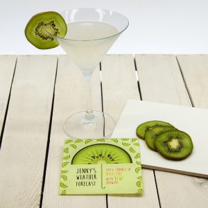 Personalised Glass Coasters - Forecast is for Cocktails!