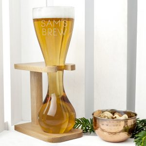 Personalised Yard of Ale Glass & Stand