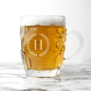 Personalised Pint Glases - Monogrammed Dimpled Beer Glass