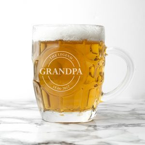 Gifts for Dads - Personalised Pint Glass for Fathers