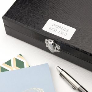 Personalised 12 Compartment Cufflink Box - Serif Font