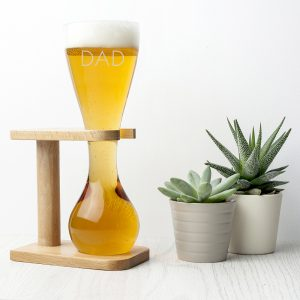 Yard of Ale - Personalised Coachman's Glass & Wooden Stand