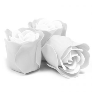 Box of 3 White Rose Soap Flowers