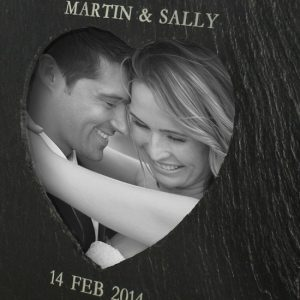 Heart Slate Photoframe - Personalised
