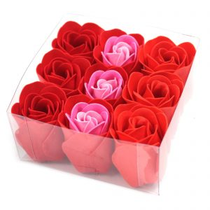 Red Rose Soap Flowers - Box of 9