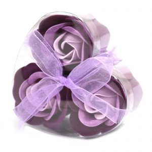Romantic Bathing Gifts - Gorgeous Box of 3 Bathtime Roses
