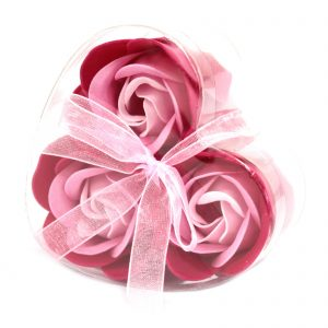 Pink Rose Scented Soap Flowers