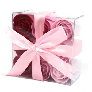 Soap Flower Petals - Gorgeous Box of 9 Pink Soap Roses