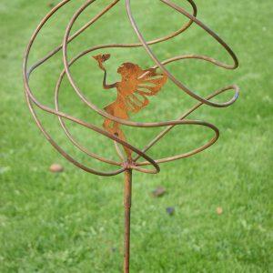 Fairy Catcher Tangle Ball Garden Stake