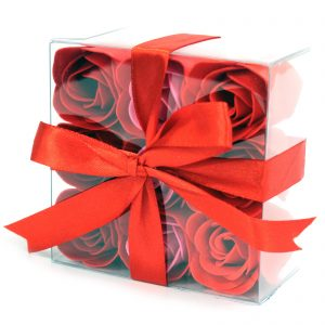 Box of 9 Red Rose Soap Flowers