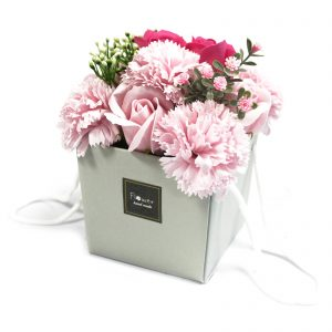 Soap Gift Baskets - Luxurious Pink Rose & Carnation Bath Flowers