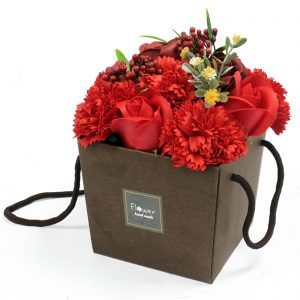 Soap Flower Bouquet - Luxurious Red Rose & Carnation Bath Flowers