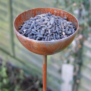 Sunflower Seed Bird Feeder - Rustic Bird Bowl Plant Pin