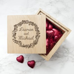 Couples Engraved Photo Cube - Filled with Chocolates