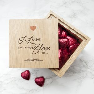 Romantic Valentines Day Ideas - Chocolate Filled Photo Cube