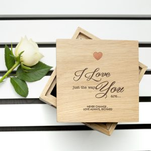 Romantic Valentines Day Ideas - Chocolate Filled Engraved Photo Cube