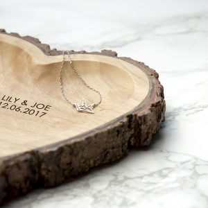 Rustic Wooden Heart Dish - Personalised