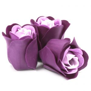 Box of 3 Lavender Rose Soap Flowers