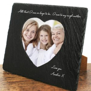 Photo Frames for Mothers - Solid Slate Personalised Photo Frames