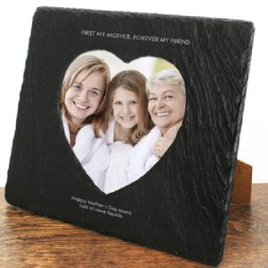 Photo Frames for Mums - Solid Slate Personalised Photo Frame