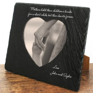 Photoframes for Mothers - Solid Slate Engraved Photo Frame