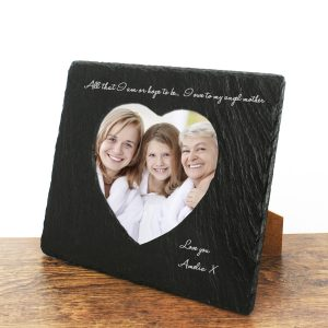 Angel Mother Heart Slate Photoframe at Country Charm