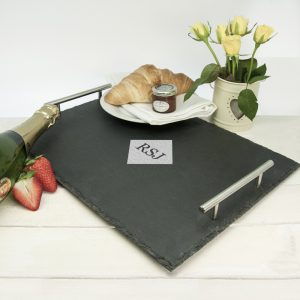 Engraved Breakfast Tray - Diamond Monogram