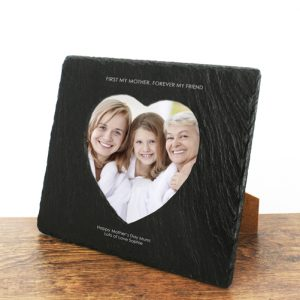 Photo Frames for Mums - Personalised in Solid Slate