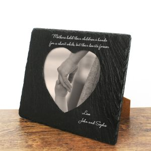 Solid Slate Personalised Photoframes for Mothers