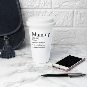 Personalised Travel Cup - Quality Ceramic & 3 Definitions of Your Loved One
