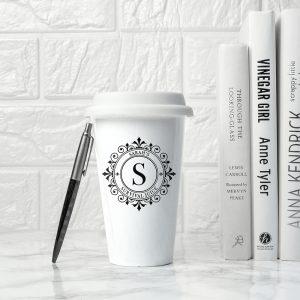 Personalised Monogrammed Ceramic Eco Cup