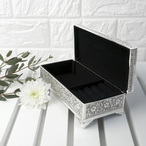 Personalised Silver Trinket Box at Country Charm